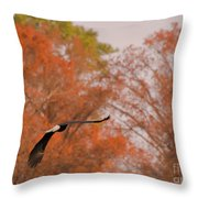 Fall Eagle Throw Pillow