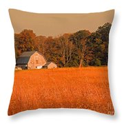 Fall Farm Throw Pillow
