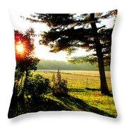 Fall Farm Sunrise 10 10 13 Throw Pillow