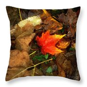 Fall Flames Out Throw Pillow