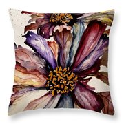 Fall Flower Colors  Throw Pillow