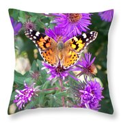 Fall Flutterby Throw Pillow
