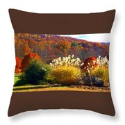 Fall Foilage In The Mountains Throw Pillow