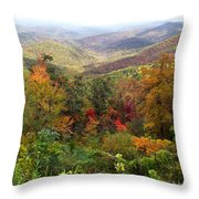 Fall Folage 3 Along The Blueridge Throw Pillow