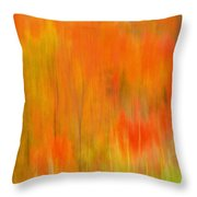 Fall Foliage Abstract Throw Pillow