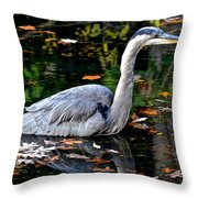 Fall Foliage And Fowl Throw Pillow