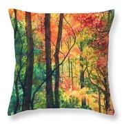 Fall Foliage Throw Pillow by Barbara Jewell