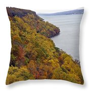 Fall Foliage On The New Jersey Palisades II Throw Pillow