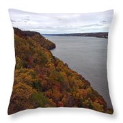 Fall Foliage On The New Jersey Palisades  Throw Pillow