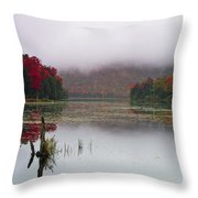 Fall Foliage Reflections In Northern Vermont Throw Pillow