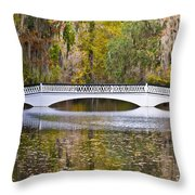 Fall Footbridge Throw Pillow