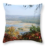 Fall Framed Islands Throw Pillow