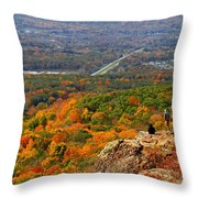 Fall From Castle Craig Throw Pillow
