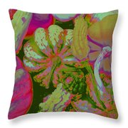 Fall Gourds Pinked Throw Pillow