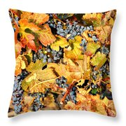 Fall Grapes Throw Pillow