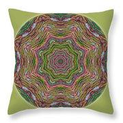 Fall Grass Mandala Throw Pillow