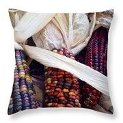 Fall Harvest Corn Throw Pillow