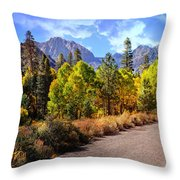 Fall Hiking In The High Sierras Throw Pillow