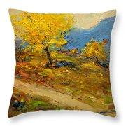 Fall In Albania Throw Pillow