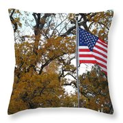 Fall In America Throw Pillow