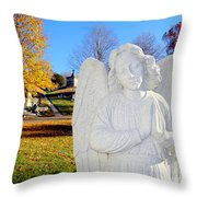 Fall In Angel Throw Pillow
