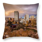 Fall In Downtown Reno Throw Pillow