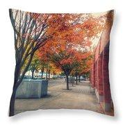 Fall In Downtown Vancouver Washington Throw Pillow