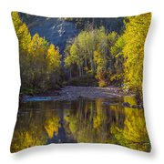 Autumn Reflections In Fort Mcmurray Throw Pillow