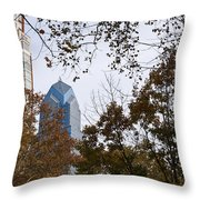 Fall In Philly Throw Pillow