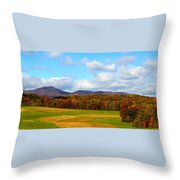 Fall In Rocky Mount Throw Pillow