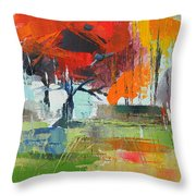 Fall In Sharonwood Park 2 Throw Pillow