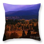 Fall In The Bitterroot Valley Throw Pillow