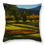 Fall In The Fields Throw Pillow