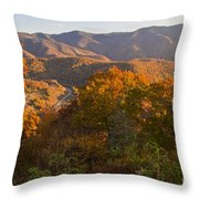 Fall In The Smoky Mountains Throw Pillow
