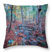 Fall In The Woodlands Throw Pillow