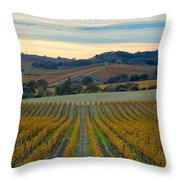Fall In Wine Country Throw Pillow