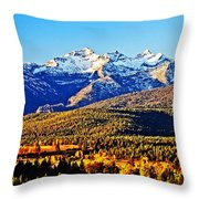 Fall In Montana Throw Pillow