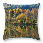 Fall Kaleidoscope Throw Pillow