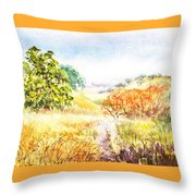 Fall Landscape Briones Park California Throw Pillow