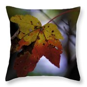 Red And Yellow Maple Leaf Throw Pillow