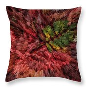 Fall Leaves  Throw Pillow by John Farnan