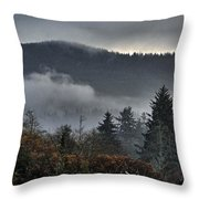 Fall Low Clouds And Fog Throw Pillow