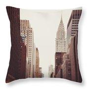 Fall On 42nd Street Throw Pillow