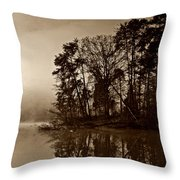 Fall On Melton Hill Lake V Throw Pillow