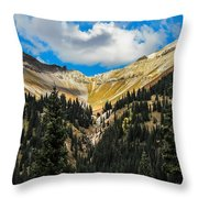Fall On Red Mountain Pass Throw Pillow