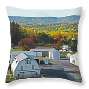 Fall On The Farm Throw Pillow