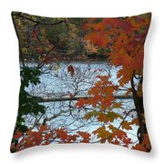 Fall On The Shetucket Throw Pillow