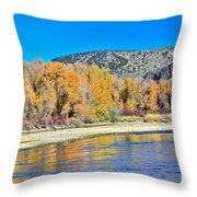 Fall On The Snake River Throw Pillow