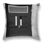 Fall Out In Black And White Throw Pillow