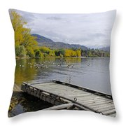 Fall Pitstop Throw Pillow